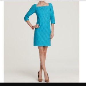Trina Turk Aqua Diamond Lace Dress-Size 0